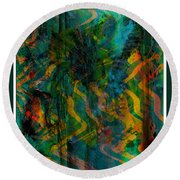 Abstract - Emotion - Apprehension Round Beach Towel