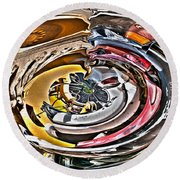 Abstract - Vehicle Recycling Round Beach Towel