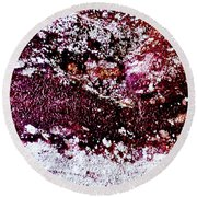 Abstract 001 Round Beach Towel