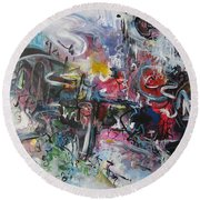 Abstract 00111 Round Beach Towel