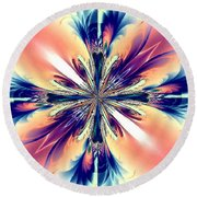 Abstract 012 Round Beach Towel