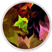 Abstract 012014 Round Beach Towel