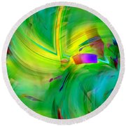 Abstract 019 Round Beach Towel