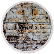 Abstract 01c Round Beach Towel