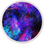 Abstract 021314 Round Beach Towel