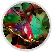 Abstract 022114fa Round Beach Towel