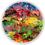 Abstract 022315 Round Beach Towel