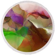 Abstract 030213 Round Beach Towel