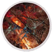 Abstract 0358 - Marucii Round Beach Towel
