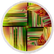 Abstract 0411 Round Beach Towel