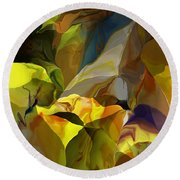 Abstract 042113 Round Beach Towel
