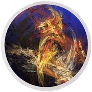 Abstract 042113a Round Beach Towel