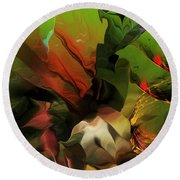 Abstract 050713 Round Beach Towel
