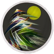 Abstract 051013 Round Beach Towel