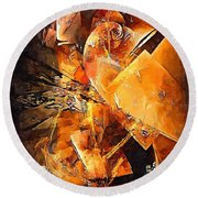 Abstract 0549 - Marucii Round Beach Towel