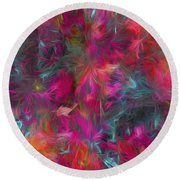 Abstract Series 06 Round Beach Towel