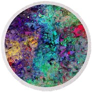 Abstract 061313 Round Beach Towel