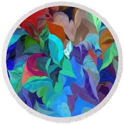 Abstract 062713 Round Beach Towel