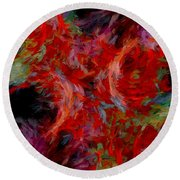 Abstract Series 08 Round Beach Towel