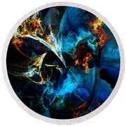 Abstract 080613 Round Beach Towel
