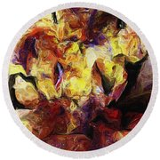 Abstract 082413 Round Beach Towel