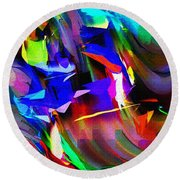 Abstract 082713d Round Beach Towel