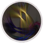 Abstract 090613 Round Beach Towel