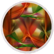 Abstract 092313 Round Beach Towel
