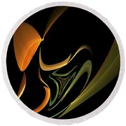 Abstract 092713 Round Beach Towel