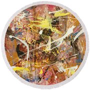 Abstract 1 Round Beach Towel
