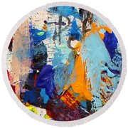 Abstract 10 Round Beach Towel
