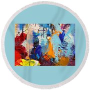 Abstract 10 Round Beach Towel by John  Nolan