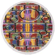 Abstract 94 Round Beach Towel