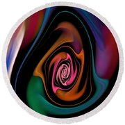 Abstract 100913 Round Beach Towel