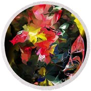 Abstract 102513 Round Beach Towel