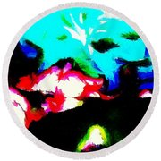 Abstract 105 Round Beach Towel