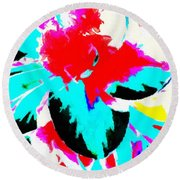 Abstract 107 Round Beach Towel