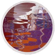 Abstract 11 Round Beach Towel