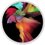 Abstract 112313 Round Beach Towel
