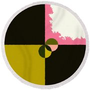 Abstract 114 Round Beach Towel