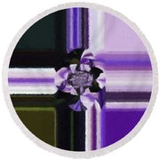 Abstract 115 Round Beach Towel