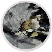 Abstract 1189963 Round Beach Towel