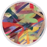 Abstract #12 Round Beach Towel
