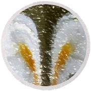 Abstract 121 Round Beach Towel