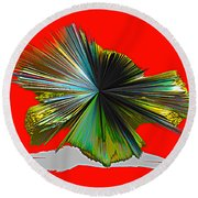 Abstract #140810 - Untitled  Round Beach Towel