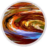 Abstract #140814 - Inside The Pipeline Round Beach Towel