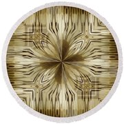 Abstract 15-02 Round Beach Towel