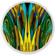 Abstract 150 Round Beach Towel