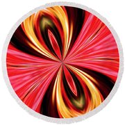 Abstract 151 Round Beach Towel