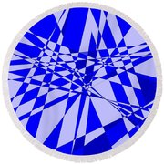 Abstract 152 Round Beach Towel